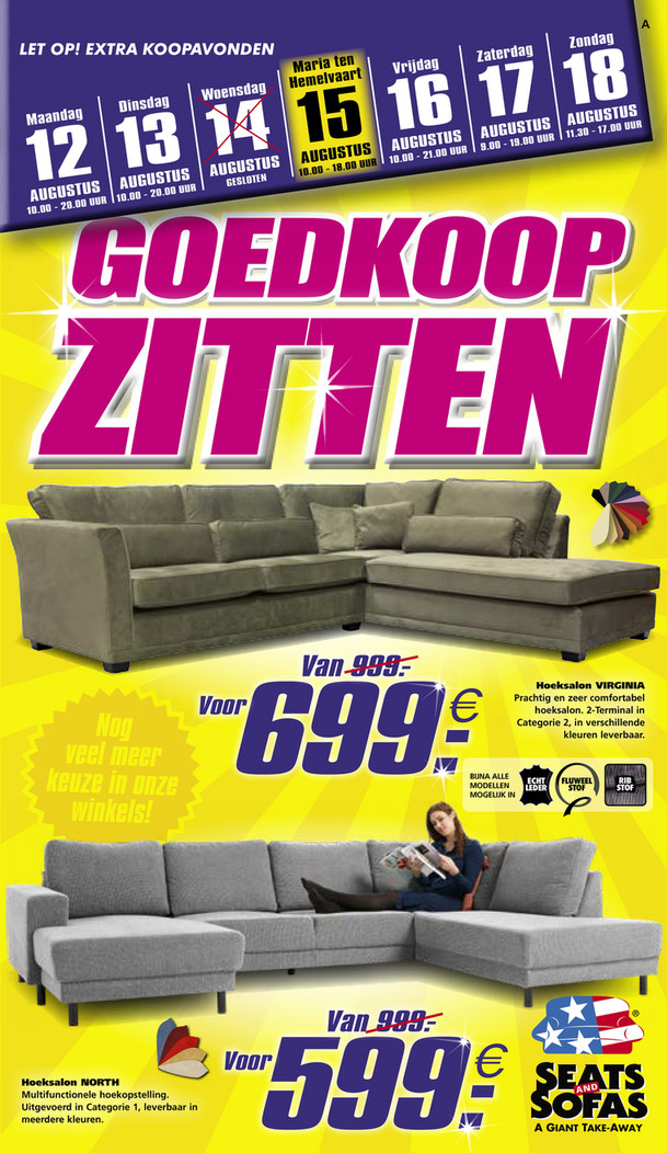 Seats and Sofas folder van 12/08/2019 tot 18/08/2019 - Weekpromoties 33