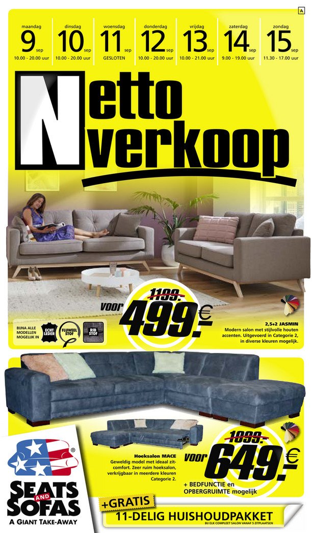Seats and Sofas folder van 09/09/2019 tot 15/09/2019 - Weekpromoties 37