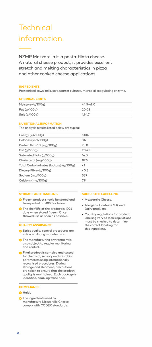 NZMP - Stanhope Mozzarella Brochure - English pdf - Page 18-19