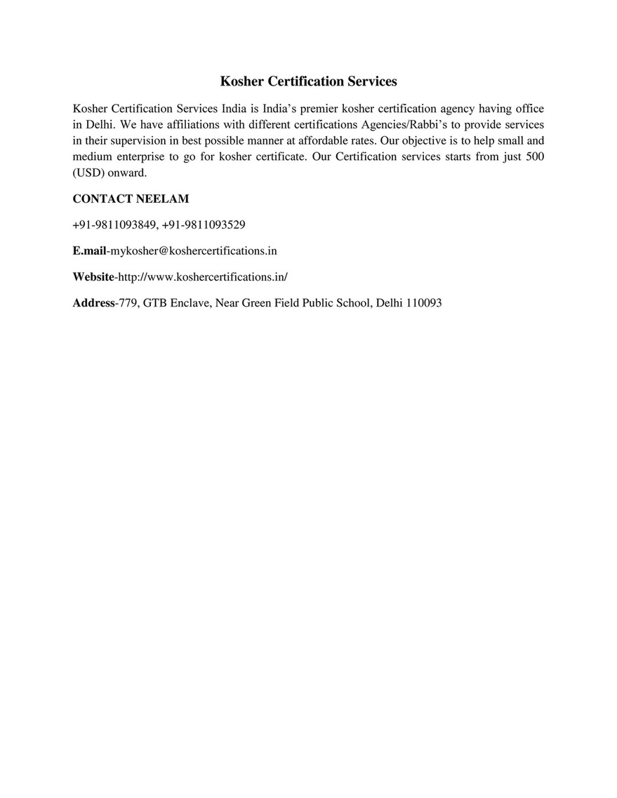 Qudigit Technology Kosher Certification Page 1 Created With