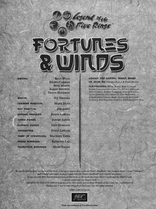 My publications - Oriental Adventures - Fortunes And Winds - Page 2