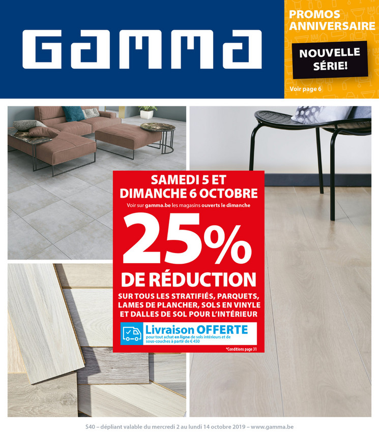 Folder Gamma du 02/10/2019 au 14/10/2019 - Promotions de la semaine 40