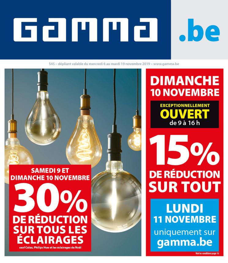 Folder Gamma du 06/11/2019 au 19/11/2019 - Promotions de la semaine 45