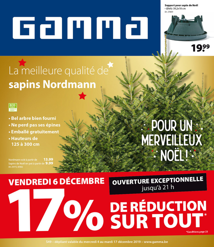 Folder Gamma du 04/12/2019 au 17/12/2019 - Promotions de la semaine 49