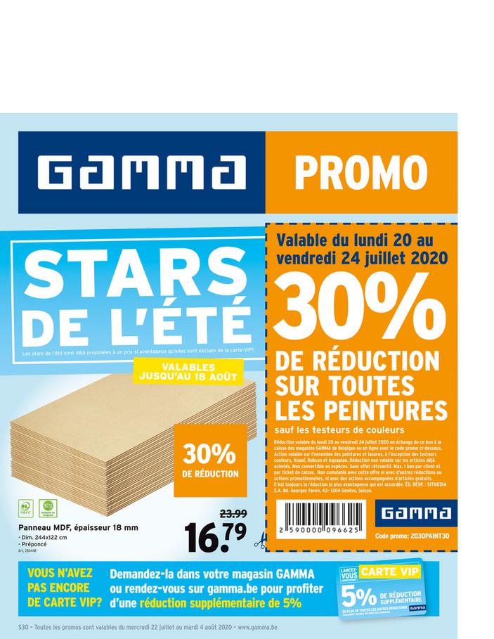 Folder Gamma du 22/07/2020 au 04/08/2020 - Promotions de la semaine 30
