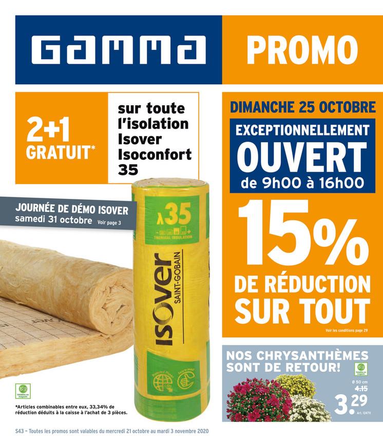 Folder Gamma du 21/10/2020 au 03/11/2020 - Promotions de la semaine 43