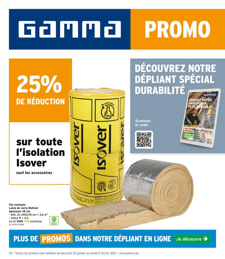 Folder Gamma du 20/01/2021 au 02/02/2021 - Promotions de la semaine 3-4