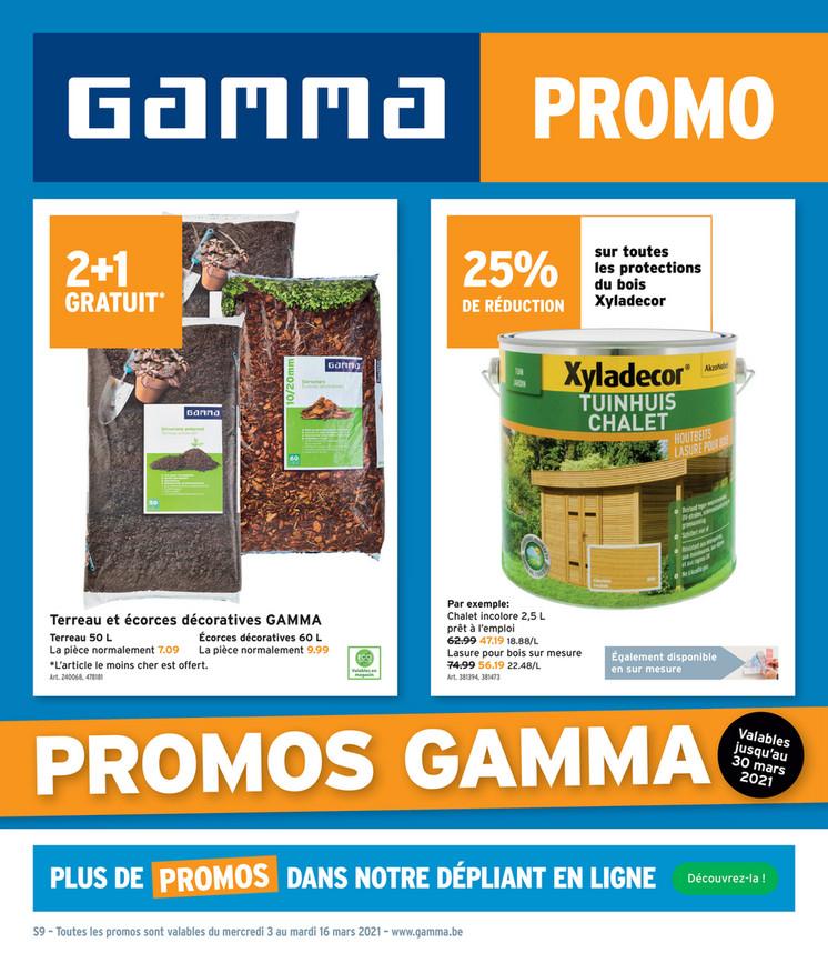 Folder Gamma du 03/03/2021 au 16/03/2021 - Promotions de la semaine 9-10
