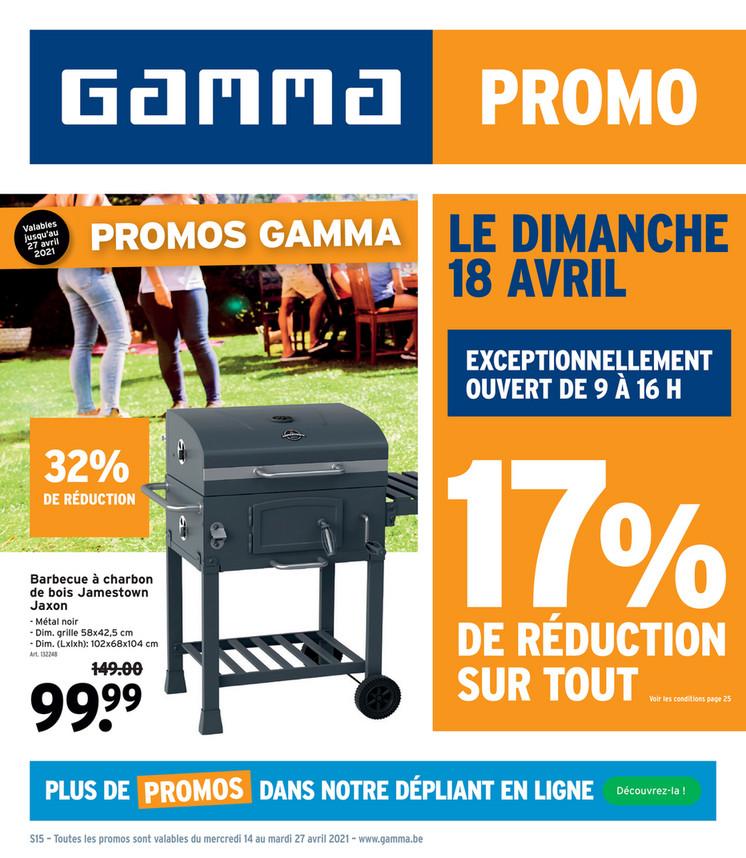 Folder Gamma du 14/04/2021 au 27/04/2021 - Promotions de la semaine 15