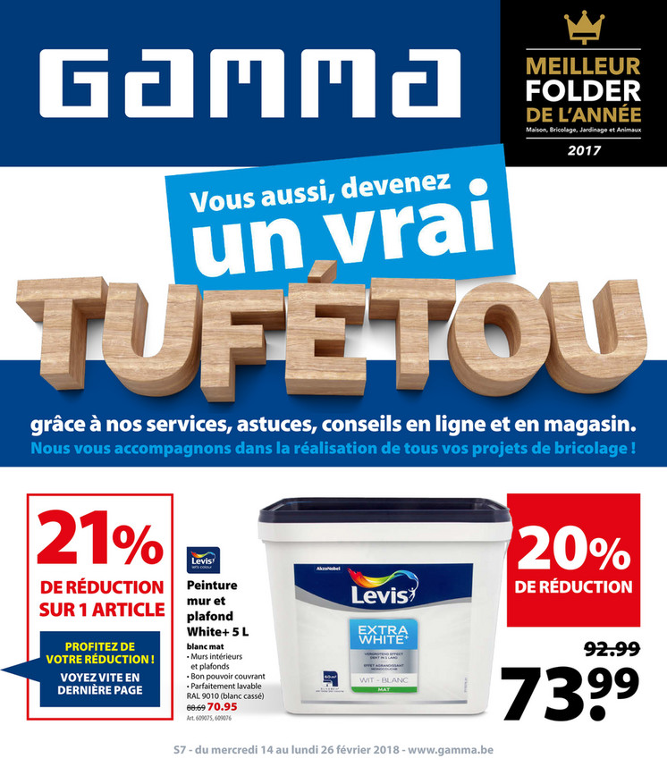 Folder Gamma du 12/02/2018 au 26/02/2018 - Promo de la semaine