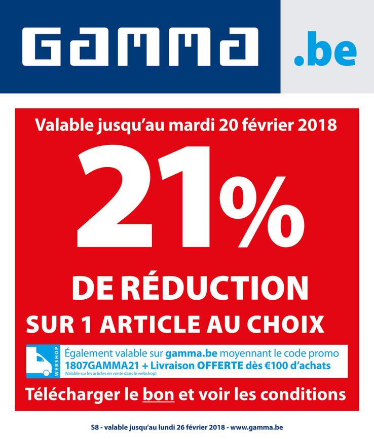 Folder Gamma du 08/02/2018 au 26/02/2018 - Promo Février