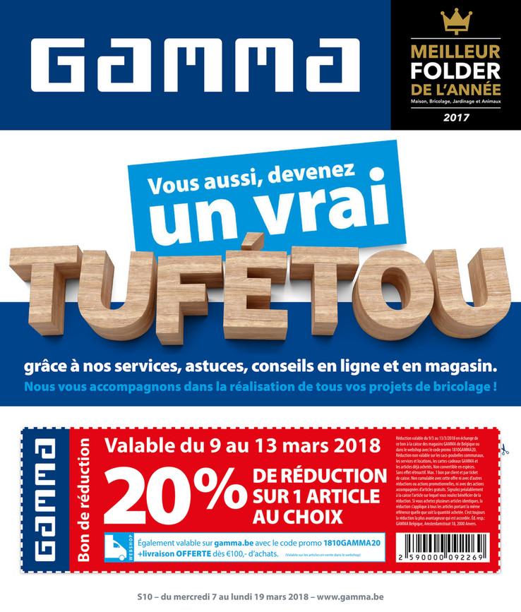 Folder Gamma du 05/03/2018 au 19/03/2018 - Promos semaine 10