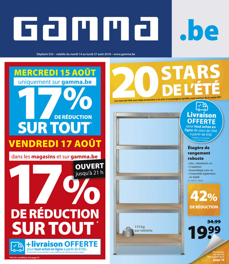 Folder Gamma du 14/08/2018 au 27/08/2018 - Promotions de la semaine 33