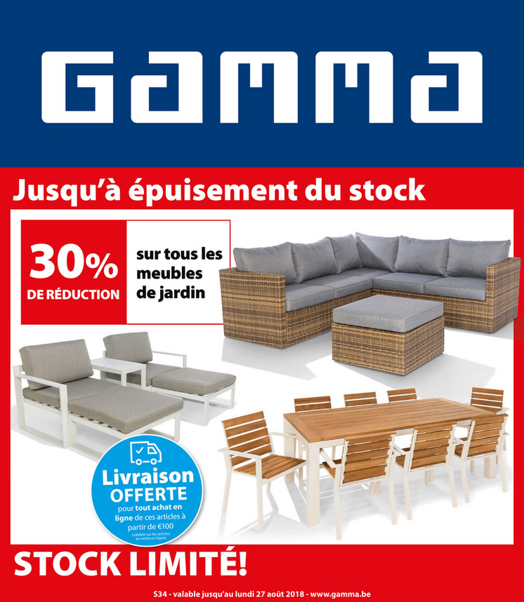 Folder Gamma du 14/08/2018 au 27/08/2018 - Promotions de la semaine 34