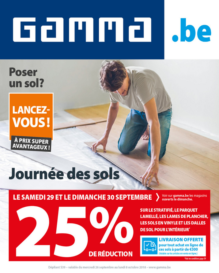 Folder Gamma du 26/09/2018 au 08/10/2018 - Promotions de la semaine 39