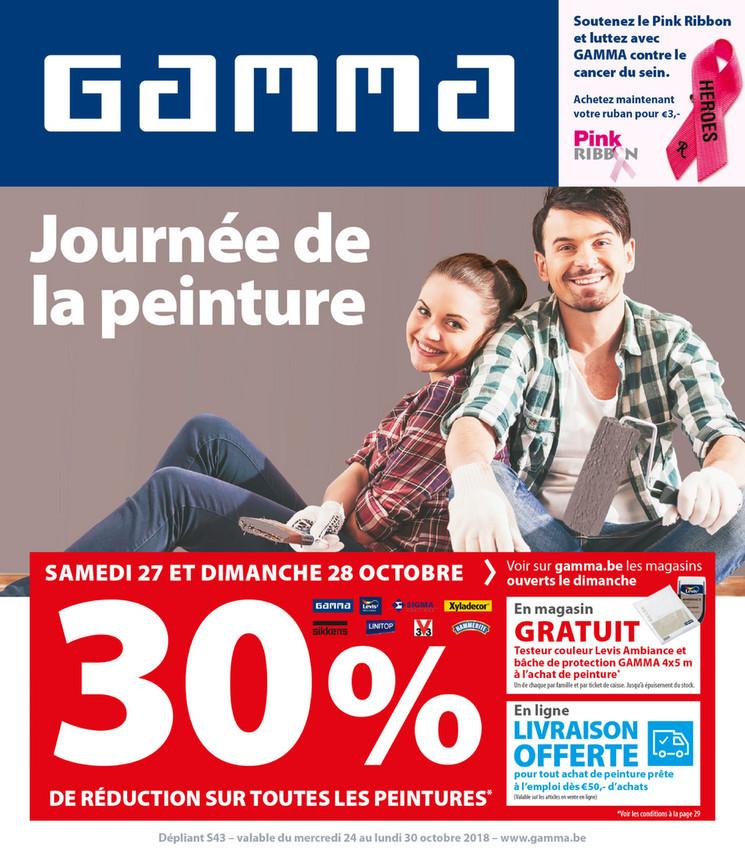 Folder Gamma du 24/10/2018 au 30/10/2018 - Promotions de la semaine 43