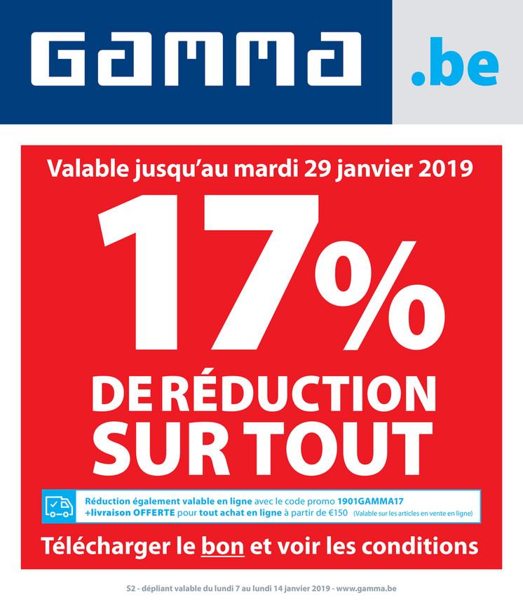 Folder Gamma du 07/01/2019 au 14/01/2019 - Promotions de la semaine 2
