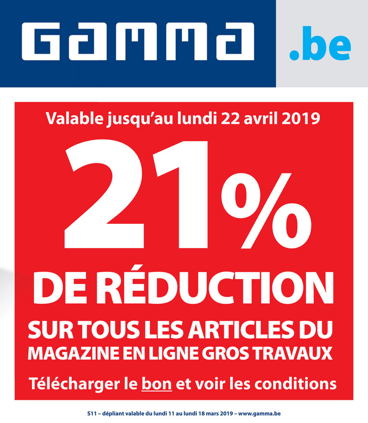 Folder Gamma du 11/03/2019 au 18/03/2019 - Promotions de la semaine 11