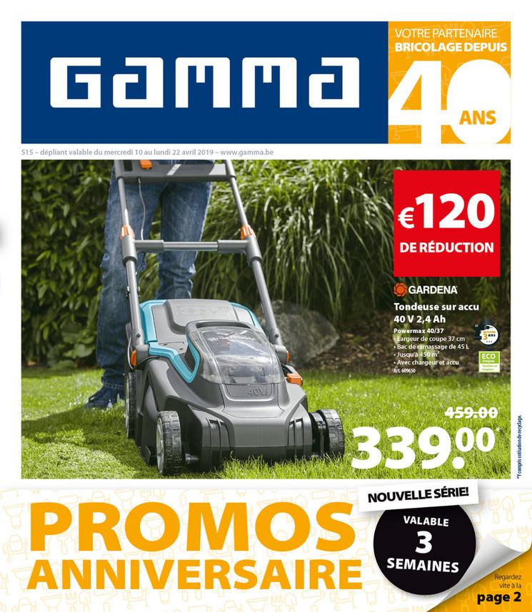 Folder Gamma du 10/04/2019 au 22/04/2019 - Promotions de la semaine 15