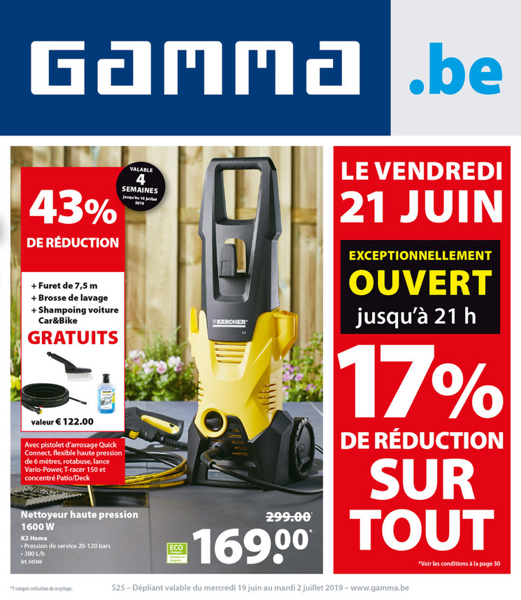 Folder Gamma du 19/06/2019 au 02/07/2019 - Promotions de la semaine 25