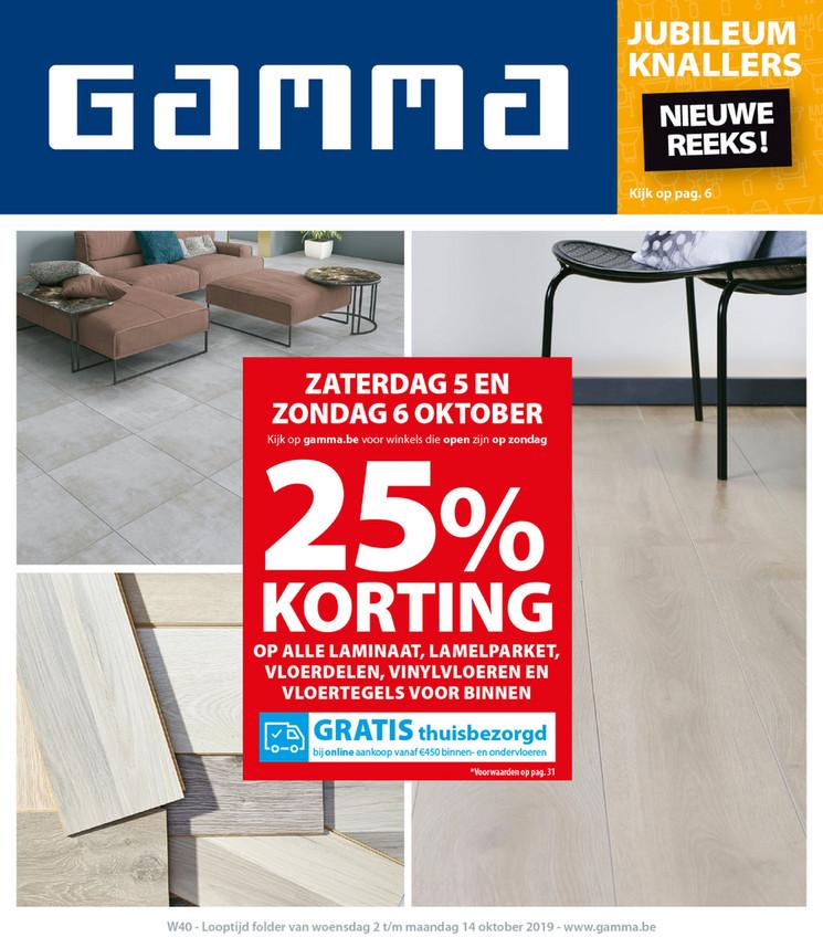 Gamma folder van 02/10/2019 tot 14/10/2019 - Weekpromoties 40