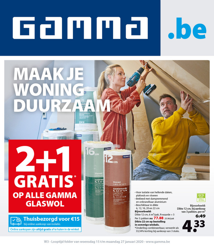 Gamma folder van 15/01/2020 tot 27/01/2020 - Weekpromoties 3