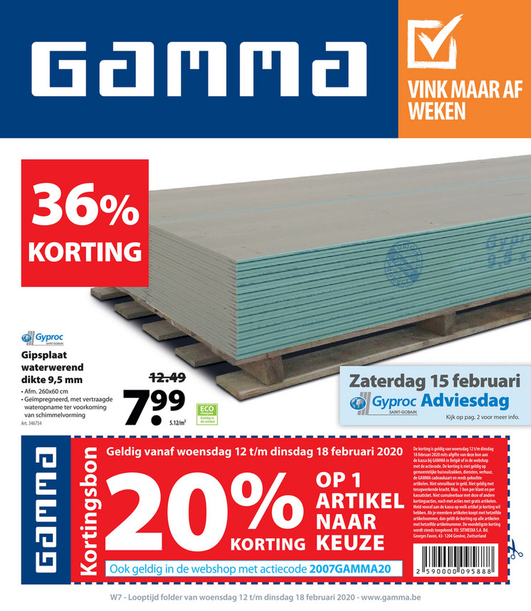 Gamma folder van 12/02/2020 tot 18/02/2020 - Weekpromoties 07