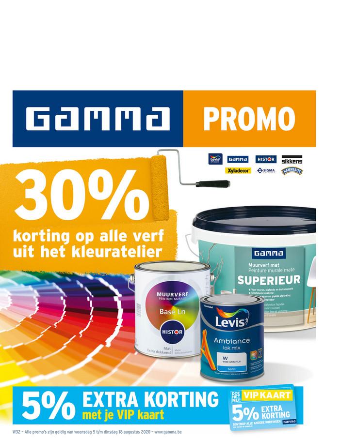 Gamma folder van 05/08/2020 tot 18/08/2020 - Weekpromoties 32