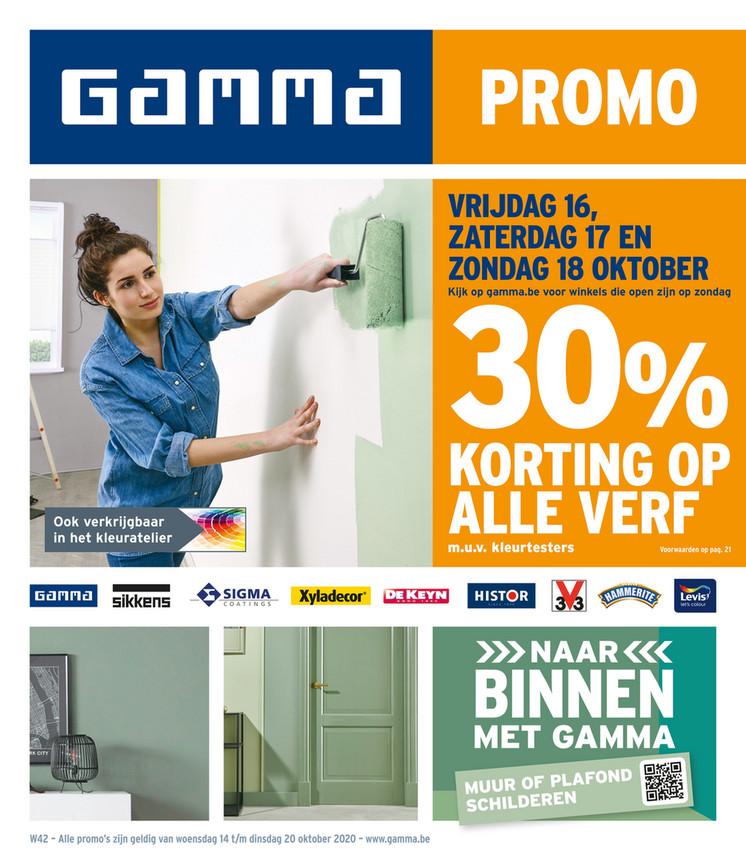 Gamma folder van 14/10/2020 tot 20/10/2020 - Weekpromoties 42