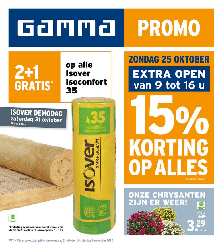 Gamma folder van 21/10/2020 tot 03/11/2020 - Weekpromoties 43