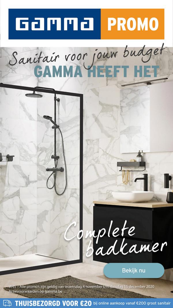 Gamma folder van 06/11/2020 tot 20/12/2020 - Gamma Sanitairspecial week 45 NL