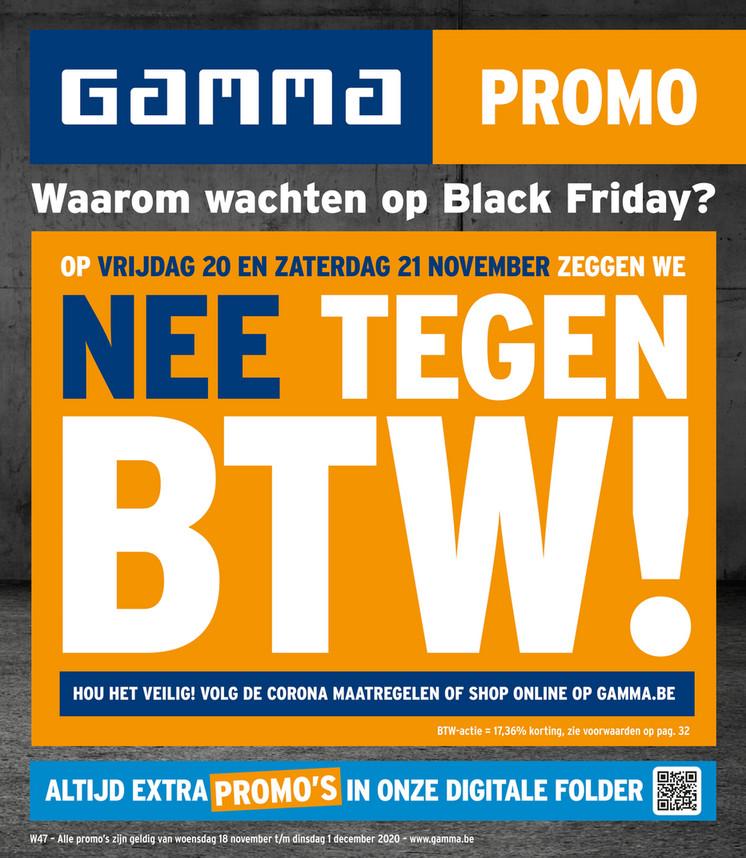 Gamma folder van 18/11/2020 tot 01/12/2020 - Promotions de la semaine 47
