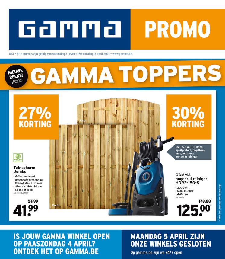 Gamma folder van 29/03/2021 tot 13/04/2021 - Weekpromoties 13-14