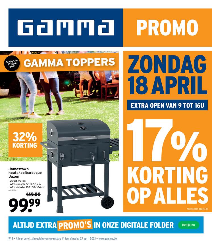 Gamma folder van 14/04/2021 tot 27/04/2021 - Weekpromoties 15