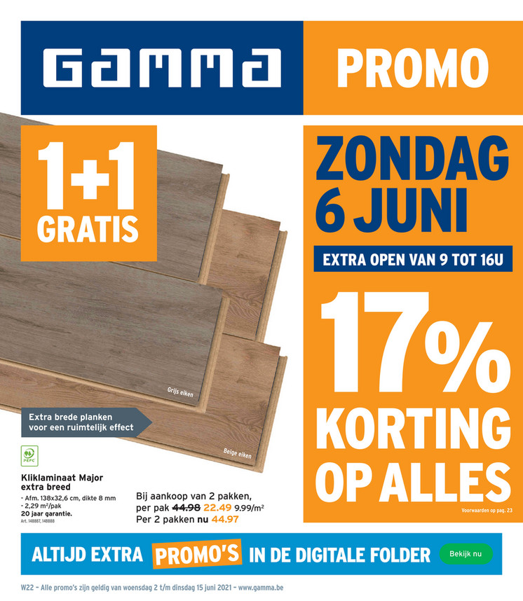 Gamma folder van 02/06/2021 tot 15/06/2021 - Weekpromoties 22