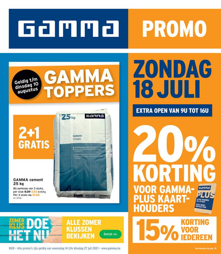 Gamma folder van 14/07/2021 tot 27/07/2021 - Weekpromoties 28