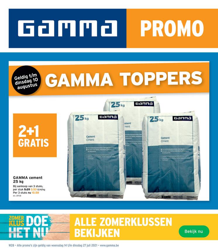 Gamma folder van 14/07/2021 tot 27/07/2021 - Weekpromoties 29