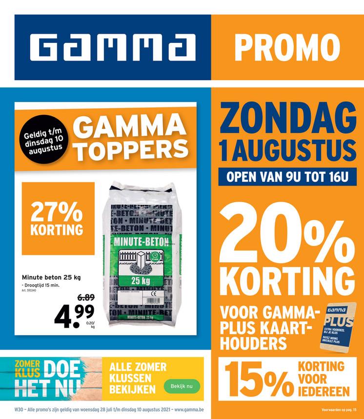 Gamma folder van 28/07/2021 tot 10/08/2021 - Weekpromoties 30