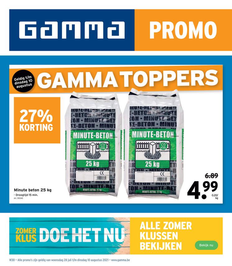 Gamma folder van 28/07/2021 tot 10/08/2021 - Weekpromoties 31