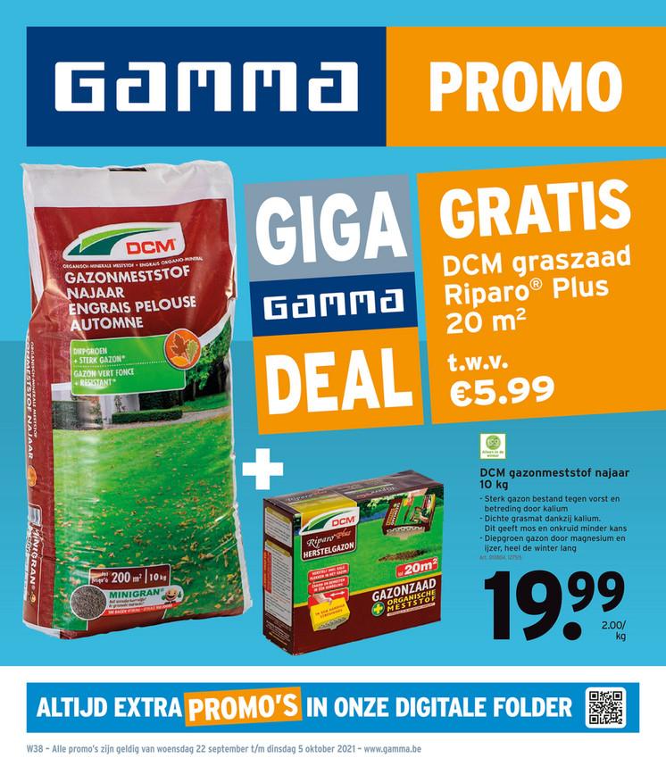 Gamma folder van 22/09/2021 tot 05/10/2021 - Weekpromoties 38