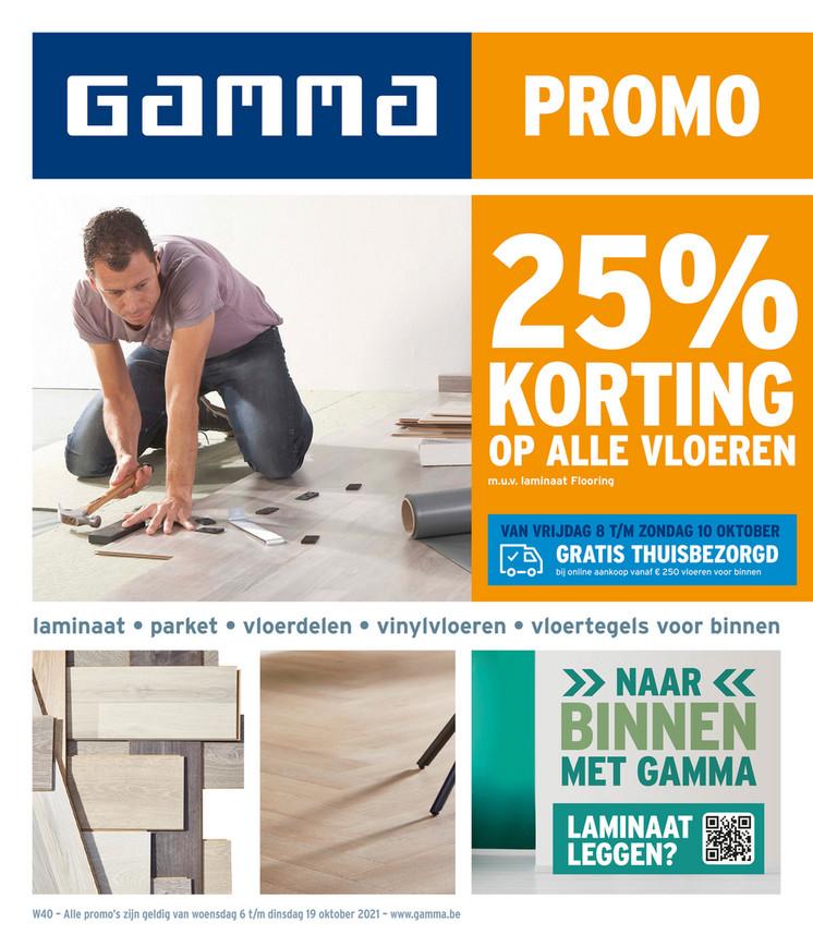 Gamma folder van 06/10/2021 tot 19/10/2021 - Weekpromoties 40