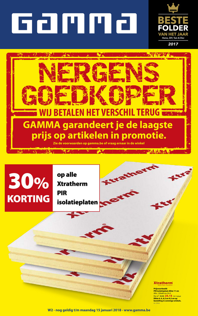 Gamma folder van 05/01/2018 tot 15/01/2018 - Weekaanbiedingen week 2