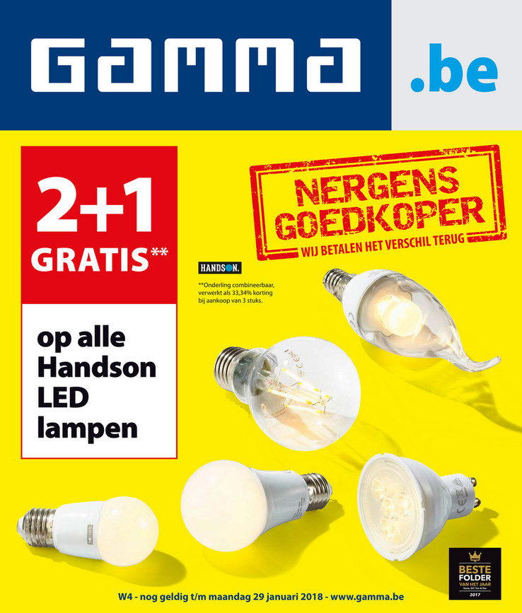 Gamma folder van 18/01/2018 tot 29/01/2018 - Weekaanbieding solden 2018