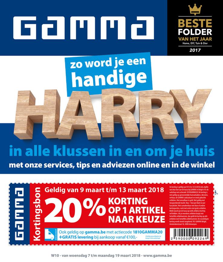 Gamma folder van 05/03/2018 tot 19/03/2018 - Promos semaine 10
