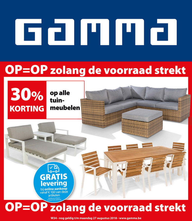 Gamma folder van 14/08/2018 tot 27/08/2018 - Weekpromoties 34