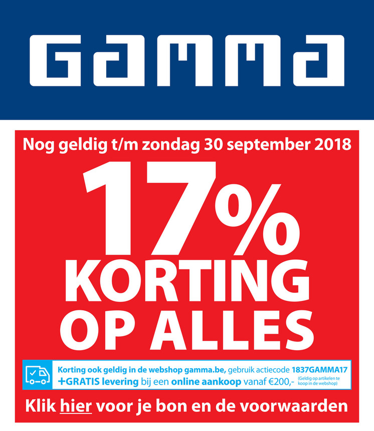 Gamma folder van 15/09/2018 tot 30/09/2018 - Weekpromoties 38