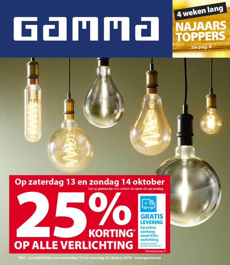 Gamma folder van 10/10/2018 tot 22/10/2018 - Weekpromoties 41