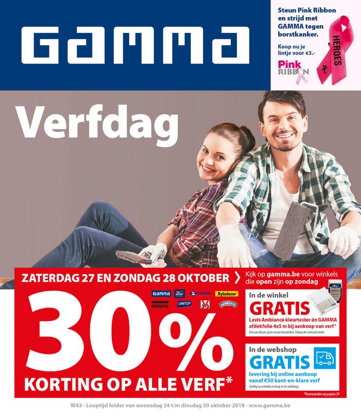 Gamma folder van 24/10/2018 tot 30/10/2018 - Weekpromoties 43