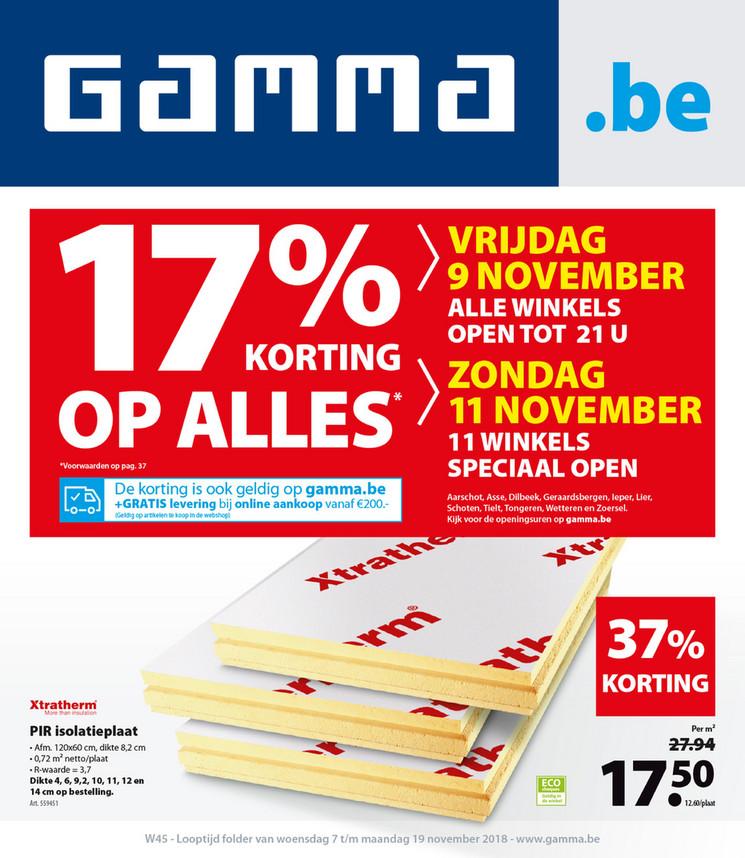 Gamma folder van 07/11/2018 tot 19/11/2018 - Weekpromoties 45