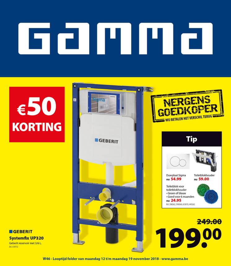 Gamma folder van 12/11/2018 tot 19/11/2018 - Weekpromoties 46